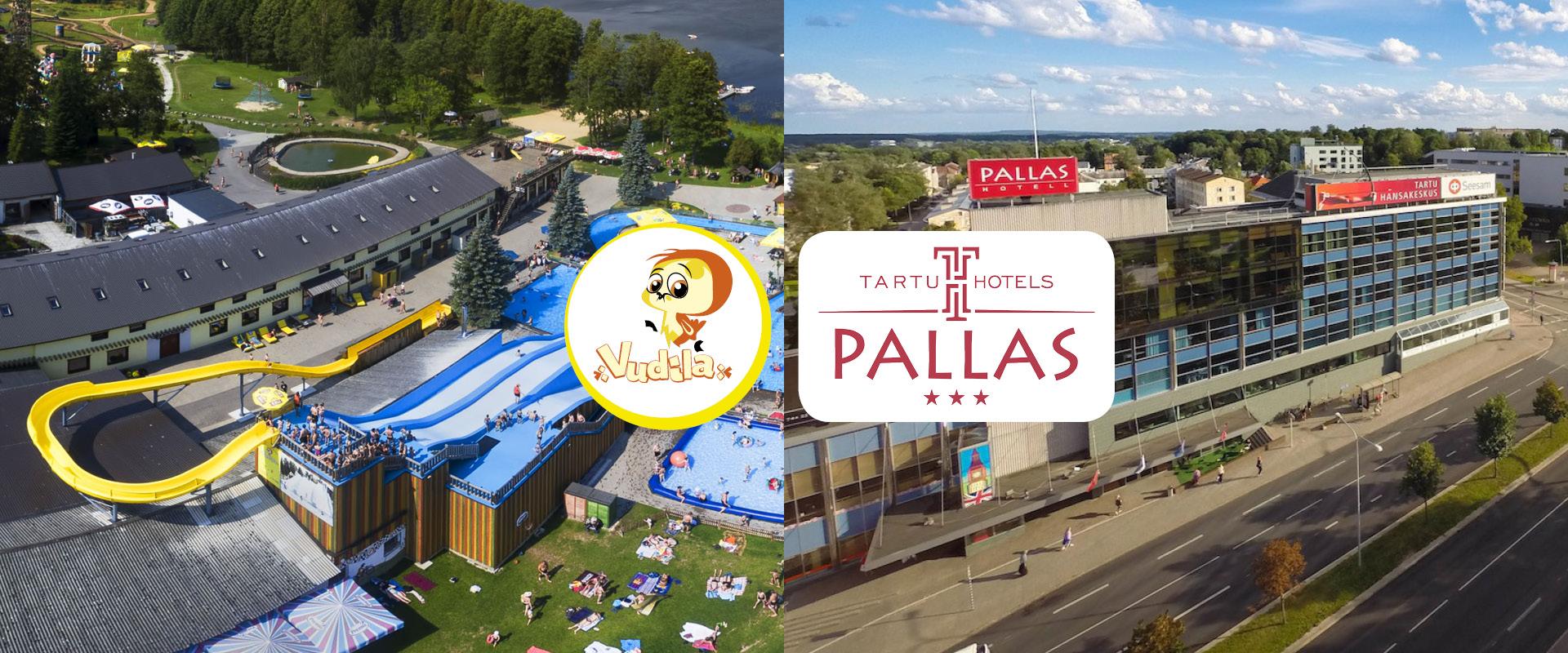 Suvine perepakett Tartu hotell Pallase majutuse ja Vudila külastusega